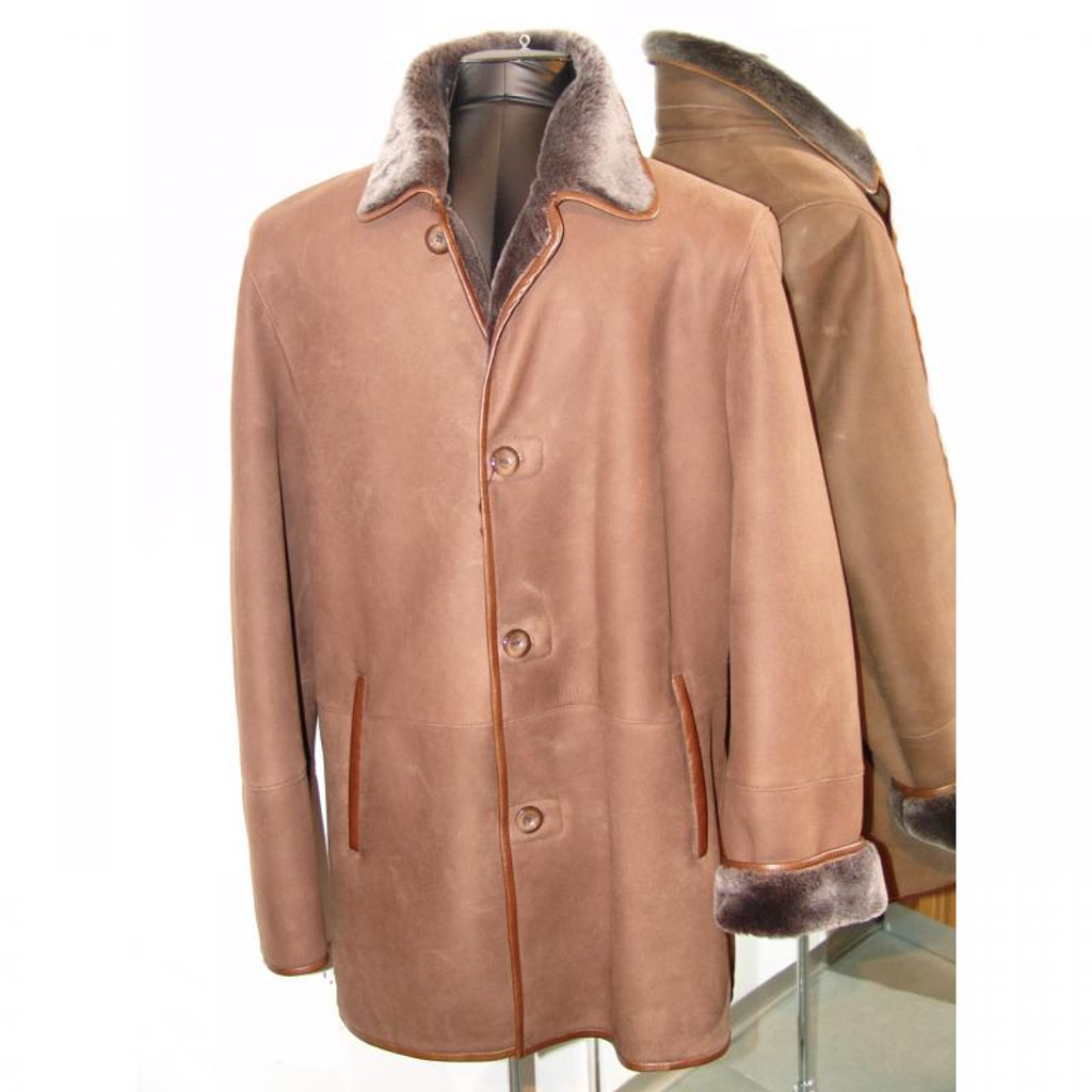 Pelleline Shearling Coat Brown
