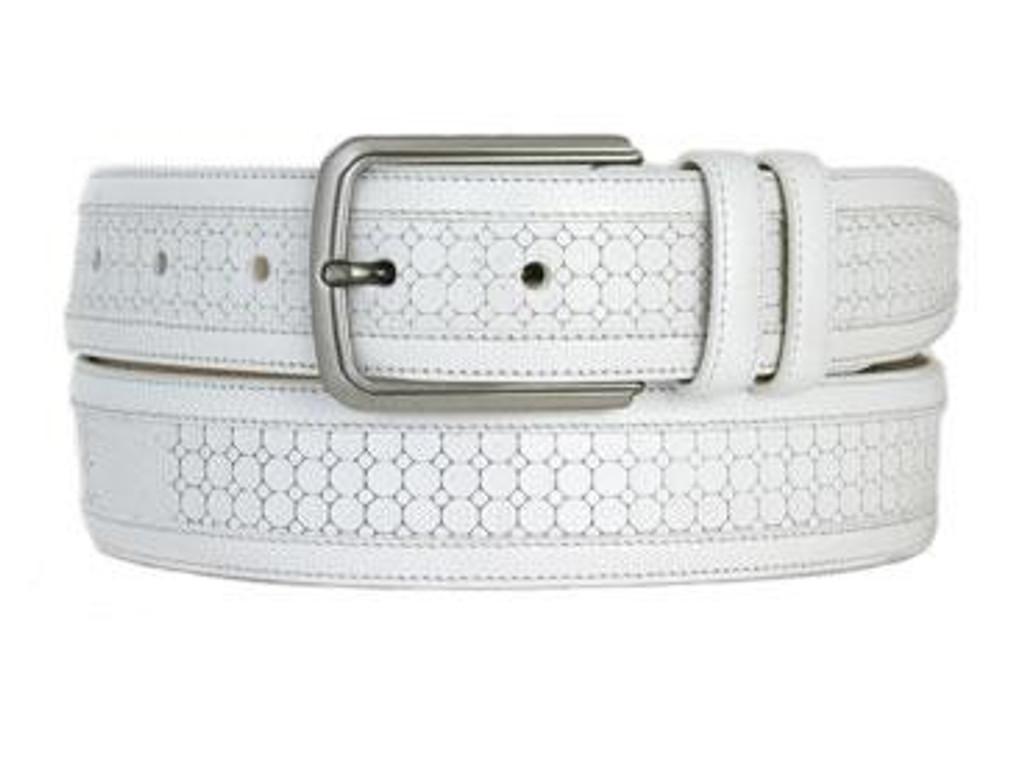 Mezlan 9095 Belt White
