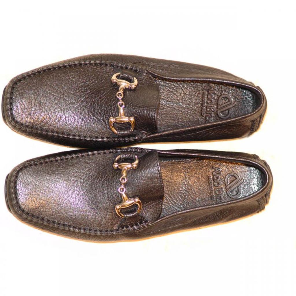 Aldo Brue Stefano Grain Leather Driver Black