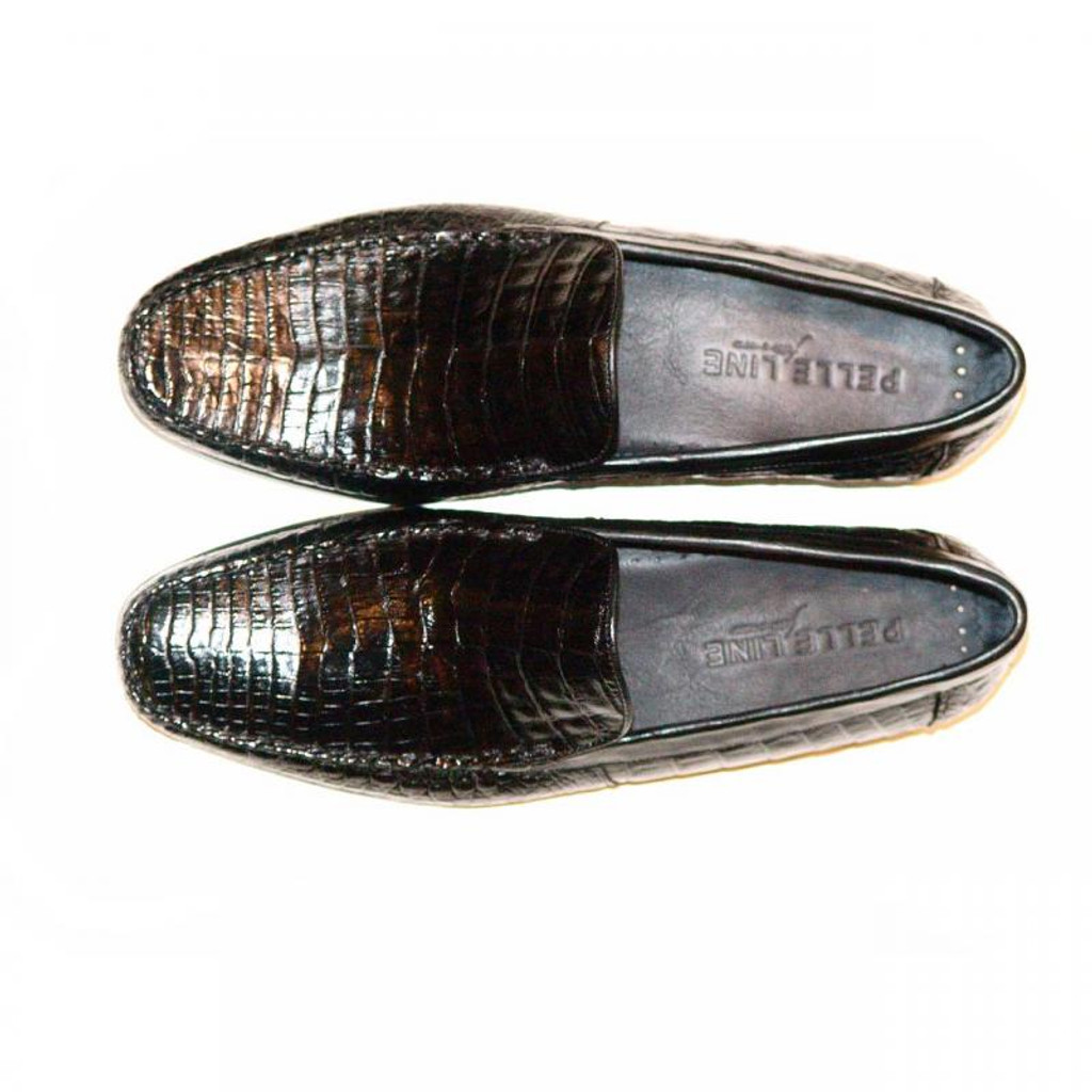 Pelleline Carlo Black Alligator Soft Loafer