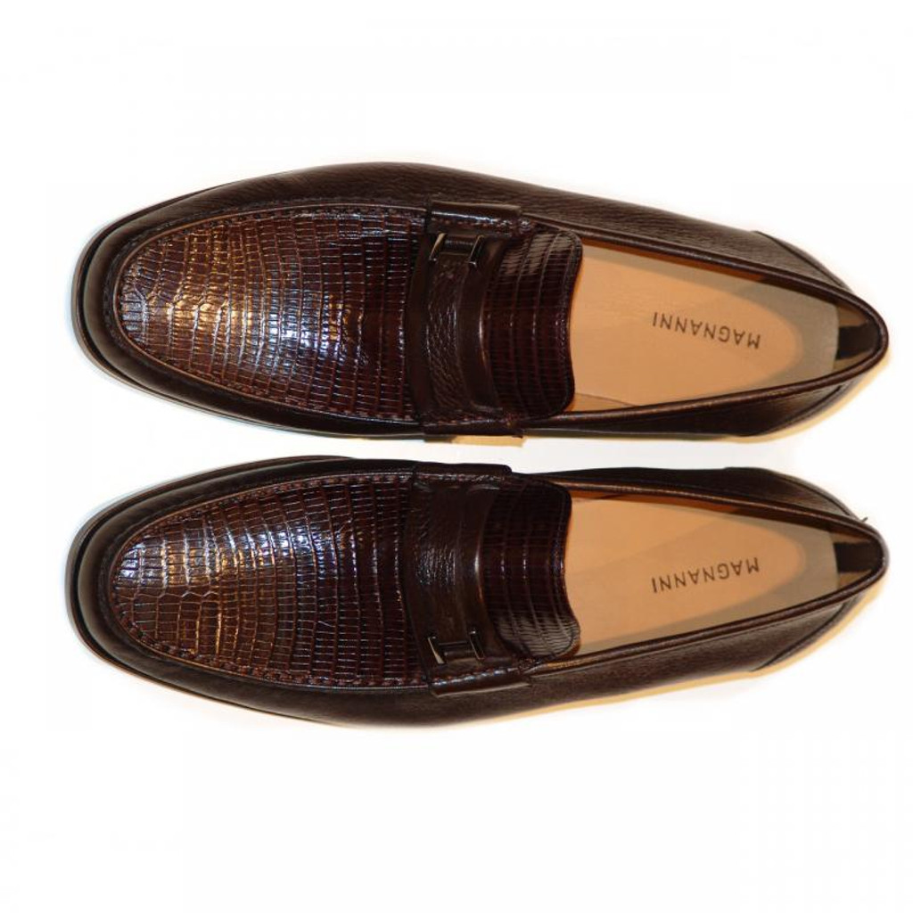 Magnanni 13126 Brown Lizard & Deerskin Soft Loafer