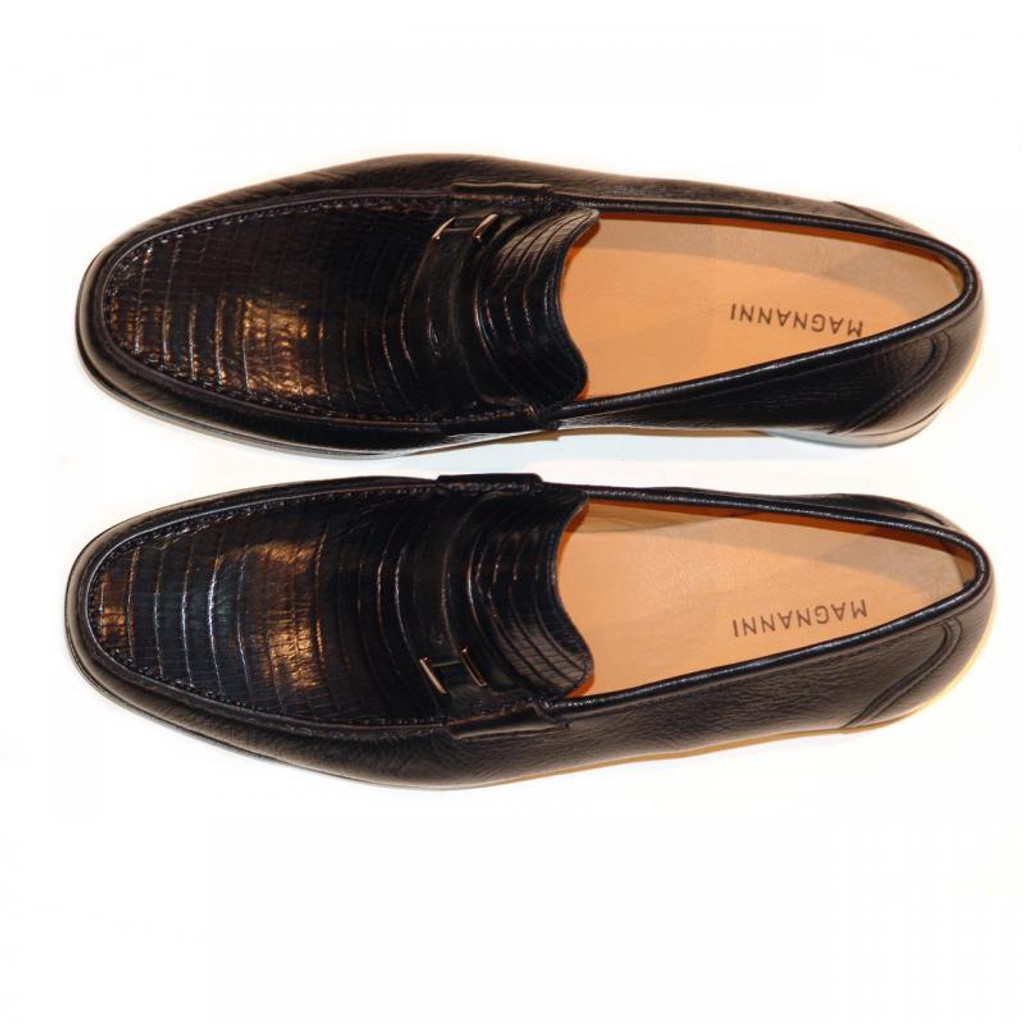 Magnanni 13126 Navy Lizard & Deer Skin Loafer
