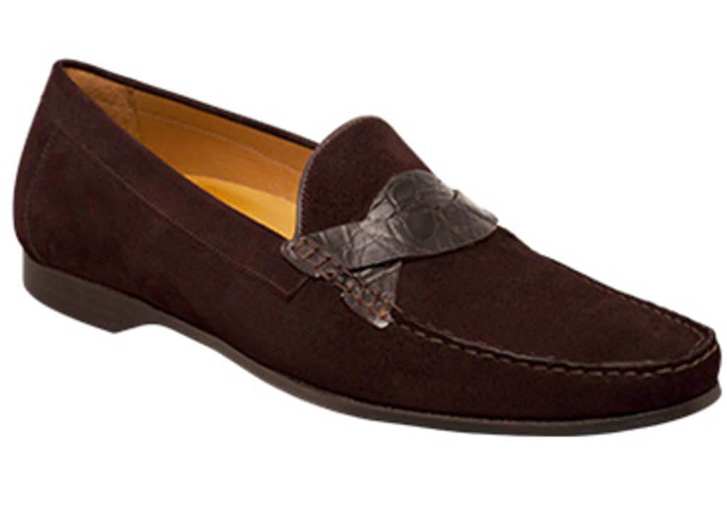 Mezlan, Serveo, Brown Suede Combination Loafer