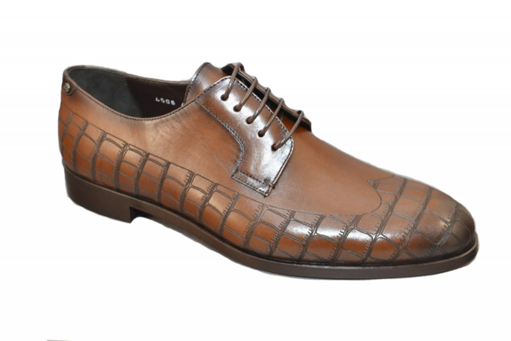 Corrente 4508 Wingtip Lace up- Brown