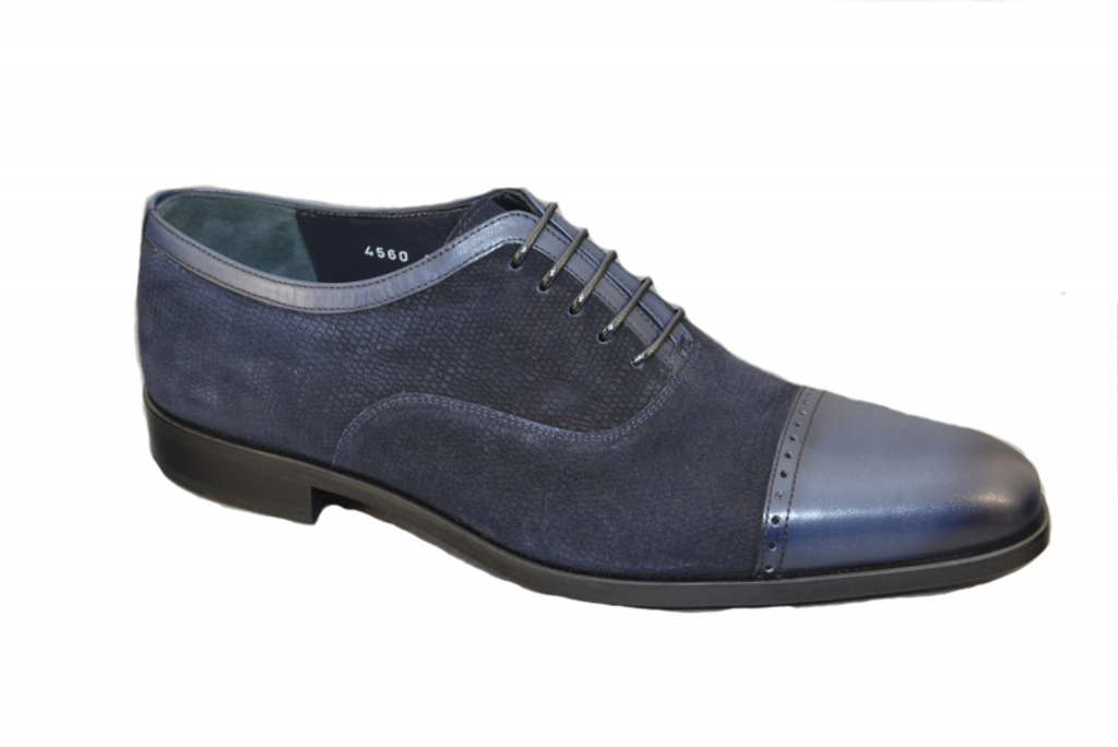 Corrente 4560 Cap toe  Lace up- Navy