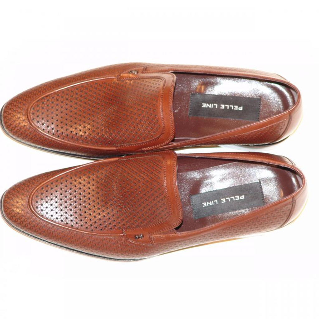 Pelle Line Exclusive 2983 Perforated Loafer Brown