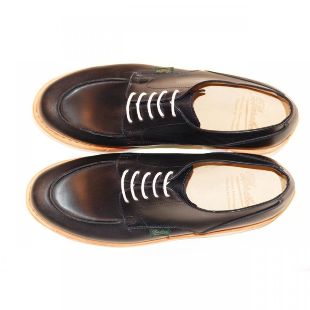 Paraboot Chambord Leather Lace Up Navy With White Sole