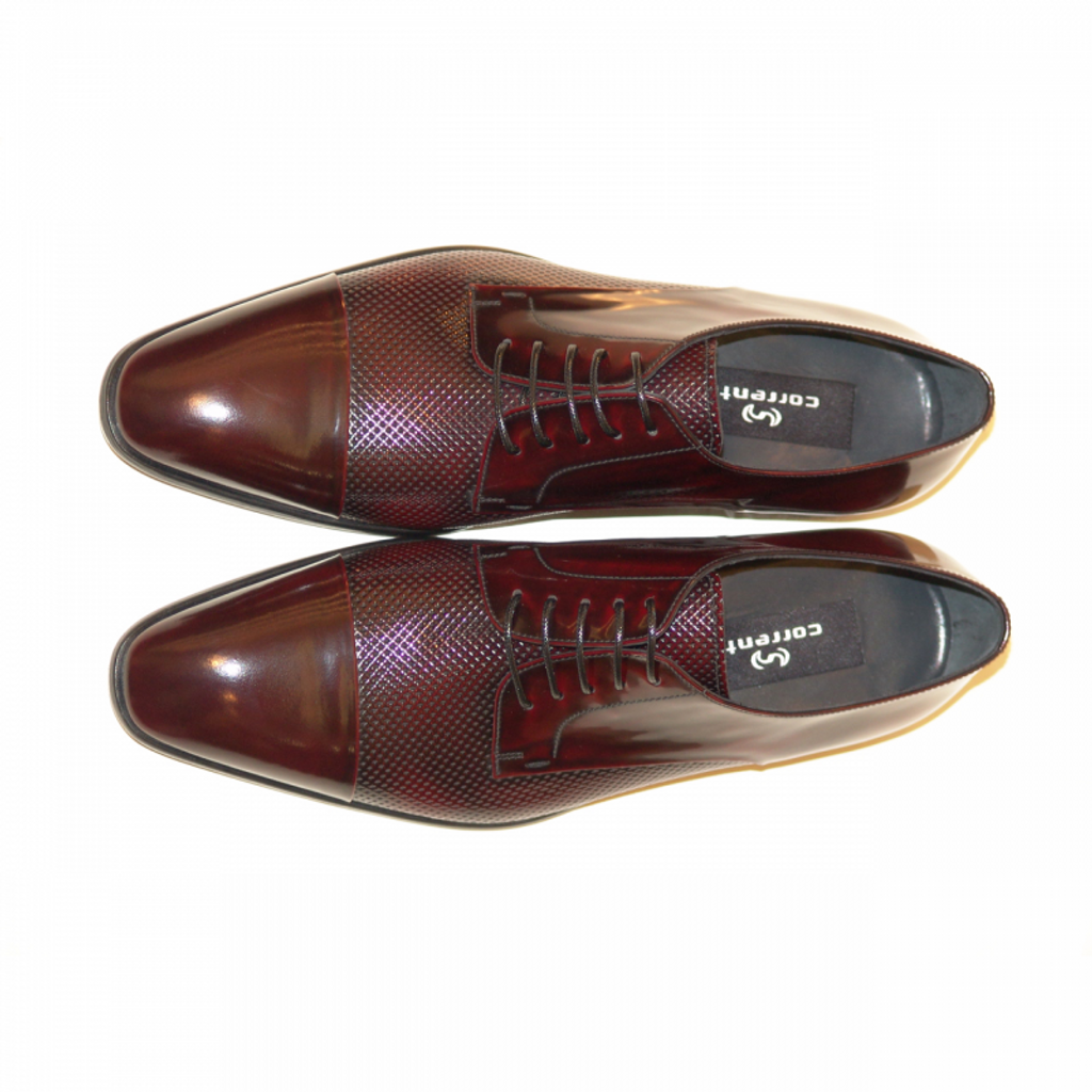 Corrente 4242 Cap toe Perforated lace up- Burgundy
