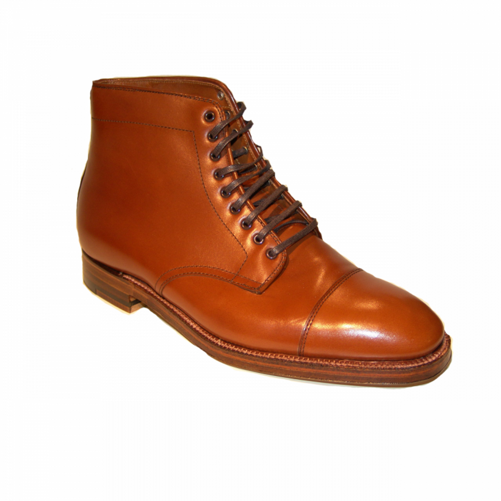 Alden 3914 Straight Tip boot Burnished Tan