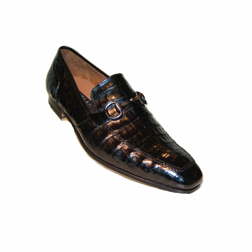 Pelle Line Exclusive Mezlan Torino Alligator Bit Loafer Black