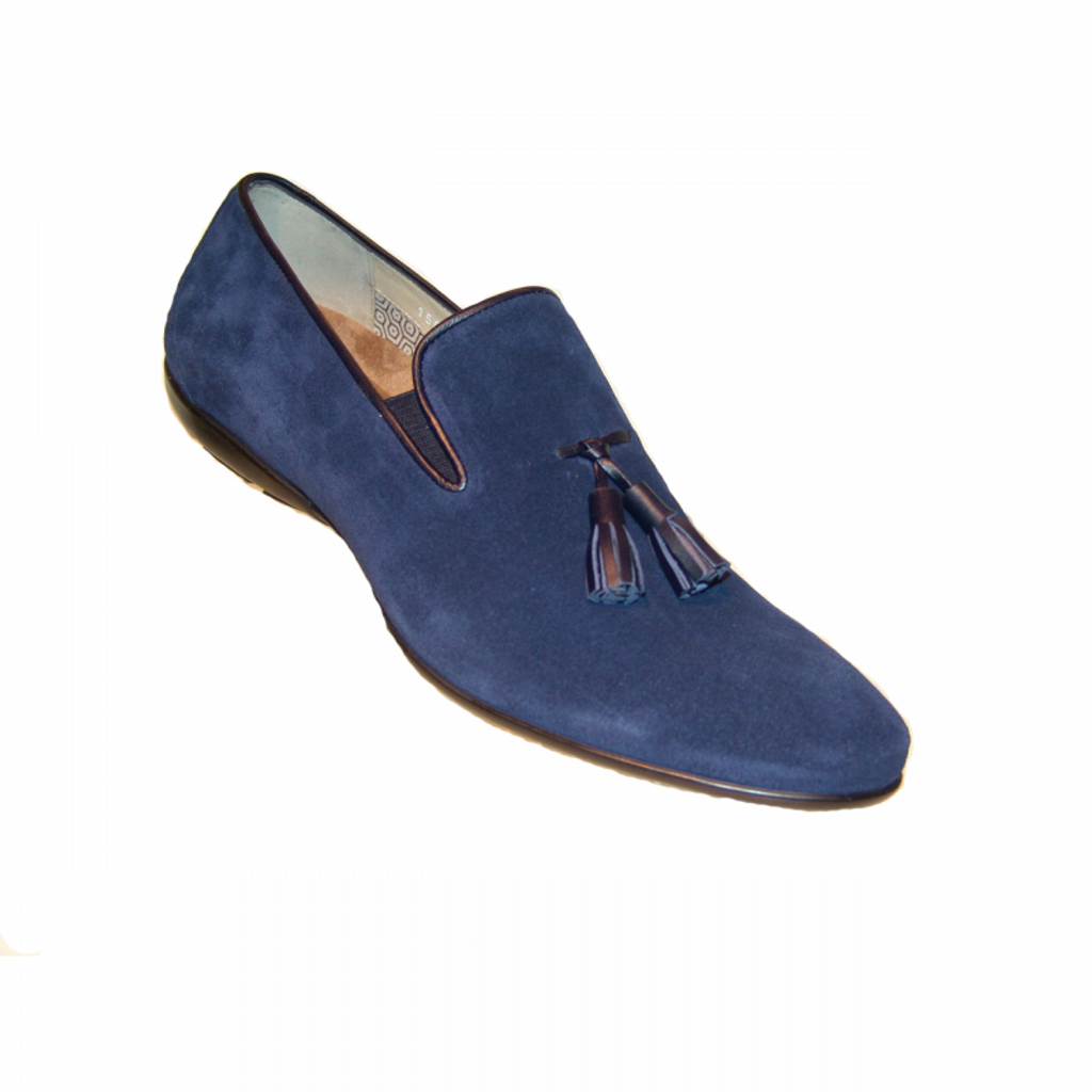Corrente 15003 Tassel Loafer - Blue Suede
