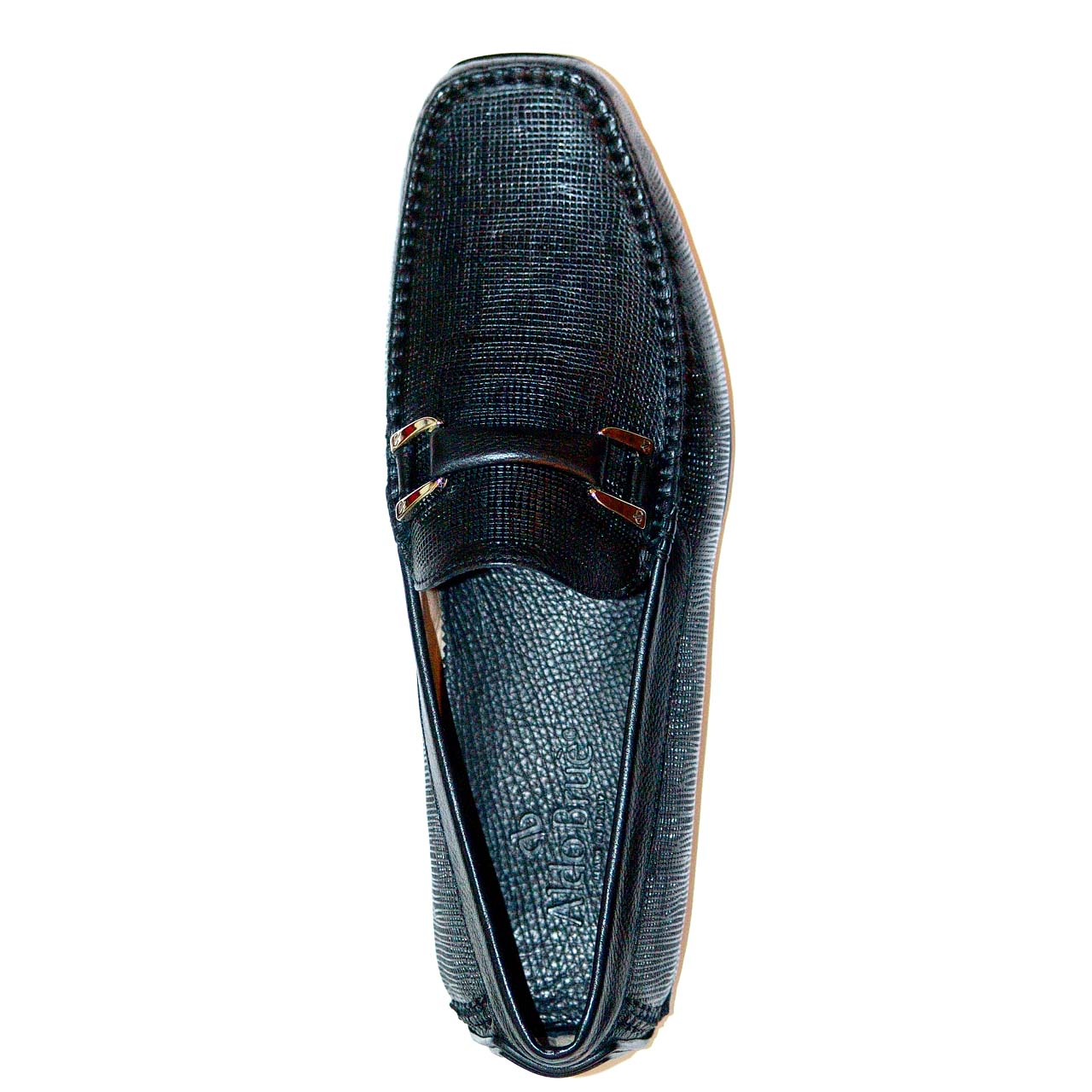 Aldo Brue Andrea Perforated Leather Driver Black