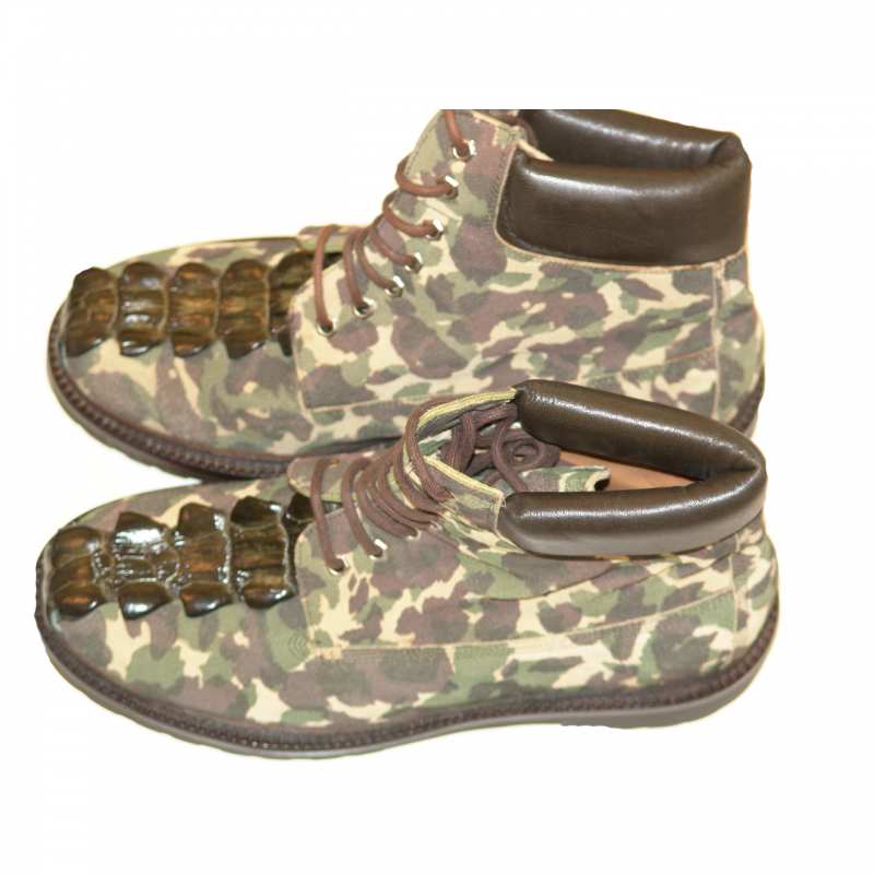 Pelleline 10016 Design Suede With Alligator Tail Work Boot Camouflage
