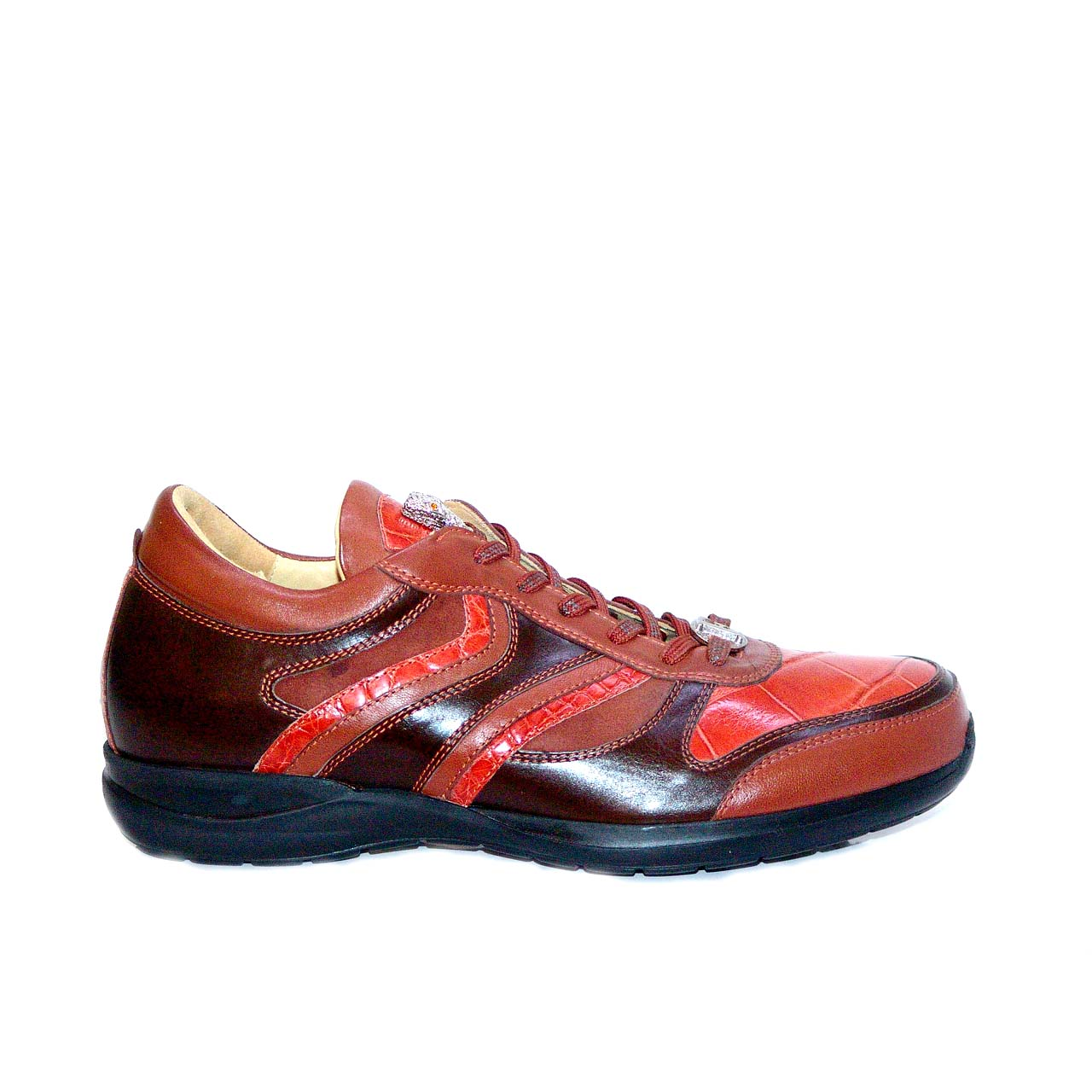 Fennix 3045 Alligator & Calfskin Two Tone Sneaker Rust