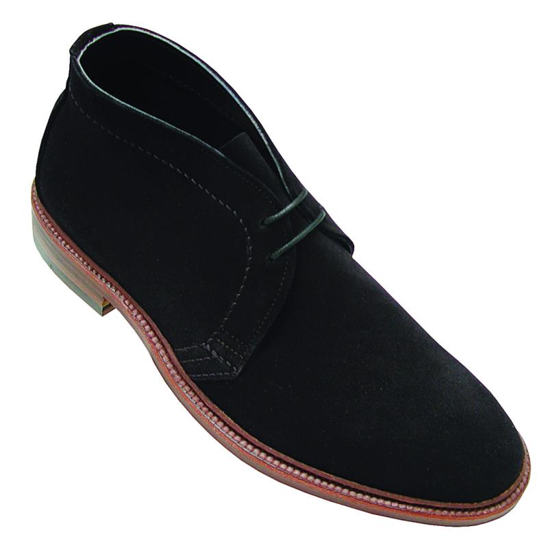 Alden 1497 Unlined Chukka Boot Black Suede