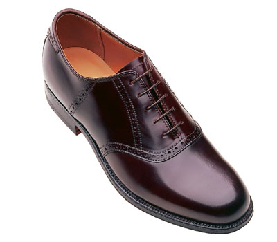 Alden 994 Shell Cordovan Traditional Saddle Oxford In Dark Burgundy