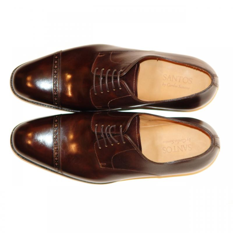 Pelle Line Exclusive Rochester Cap Toe Lace Up Brown