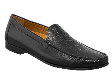 Mezlan, Costanzo, Black Exotic Combination Loafer
