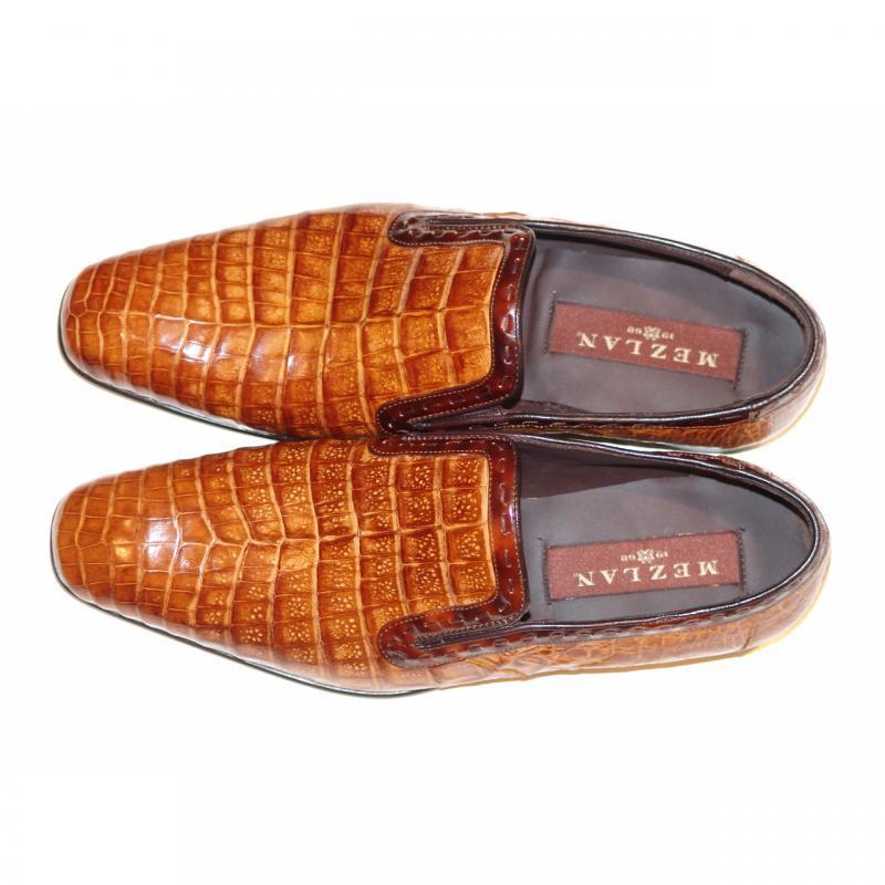 Mezlan, Grande, Alligator Loafer Honey
