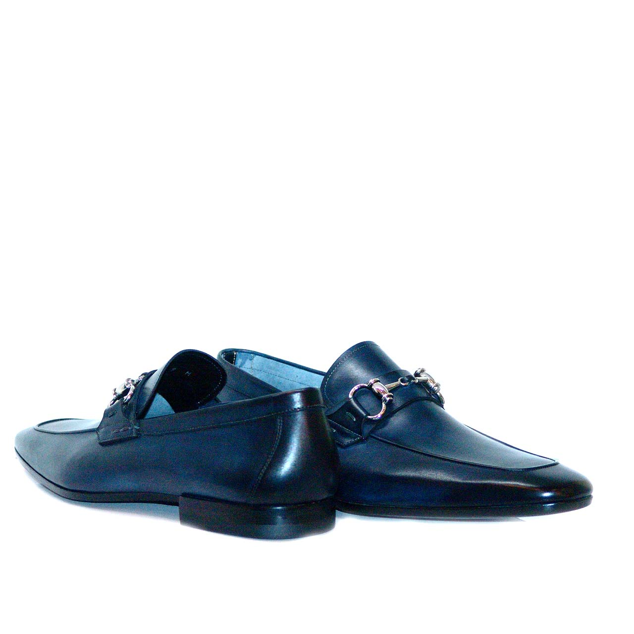 Magnanni 13008 Navy Hand Antiqued Leather With Light Weight Super Flex Sole