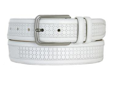 Mezlan 9095 Belt White