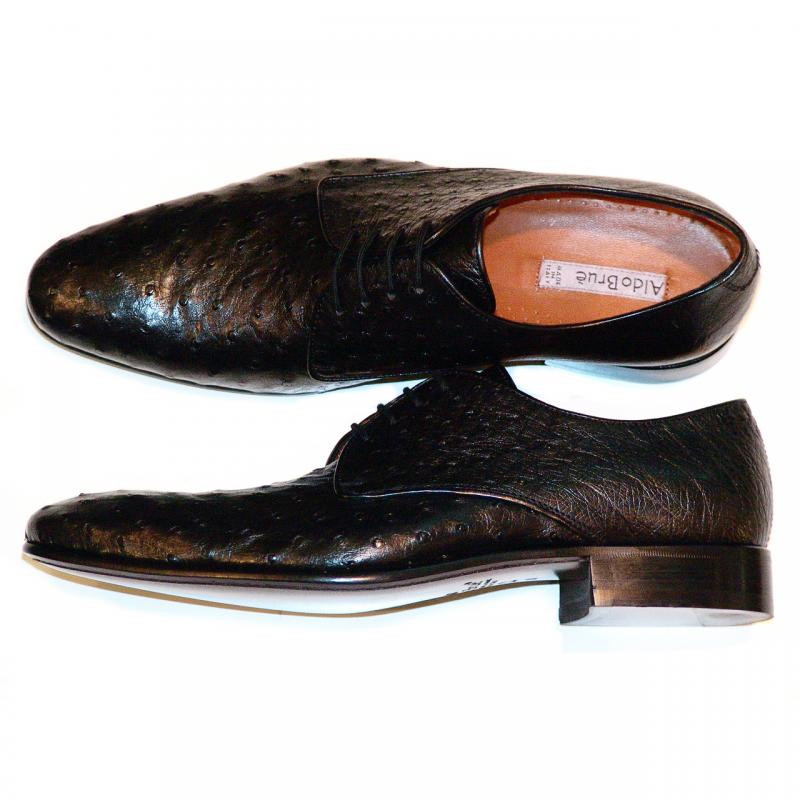 Aldo Brue 04 Black Genuine Ostrich