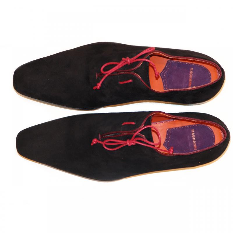 Magnanni Exclusive 6667 Suede Side Lace Black/Red