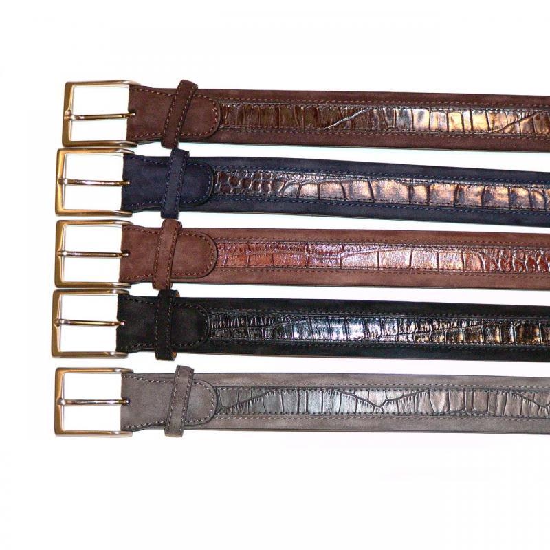Magnanni Suede Croc Belt, Matching Belt For Styles 14352,14522,14946,13383