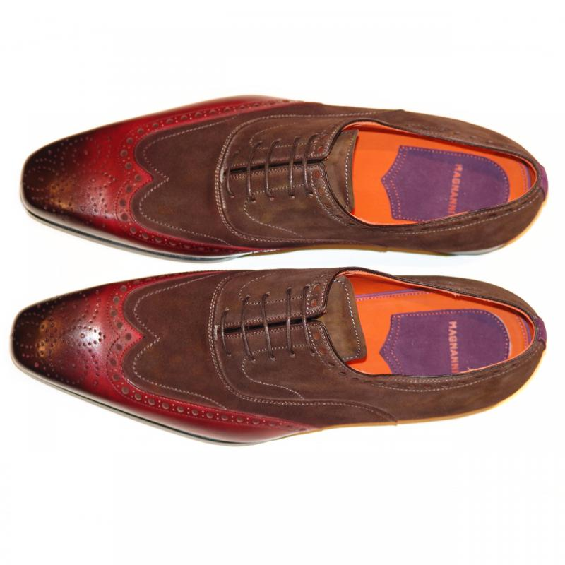 Magnanni Seleccion Collection 15380 Brown & Antiqued Burgundy