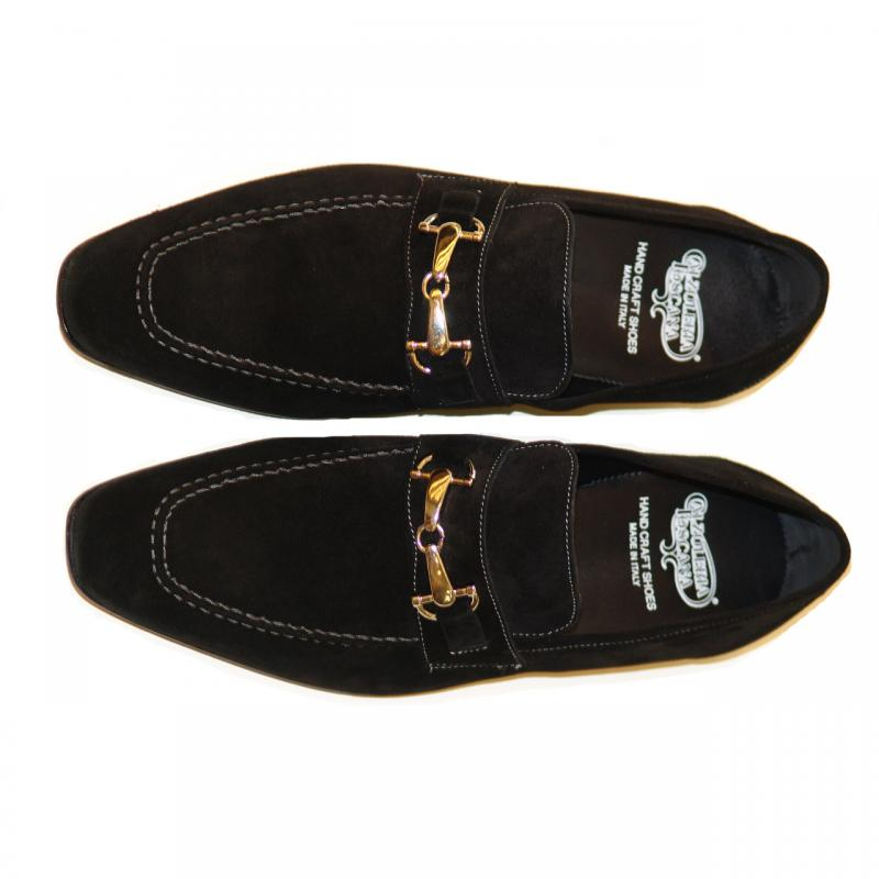 Pelle Line Exclusive 1004 Black Suede With Bit Buckle