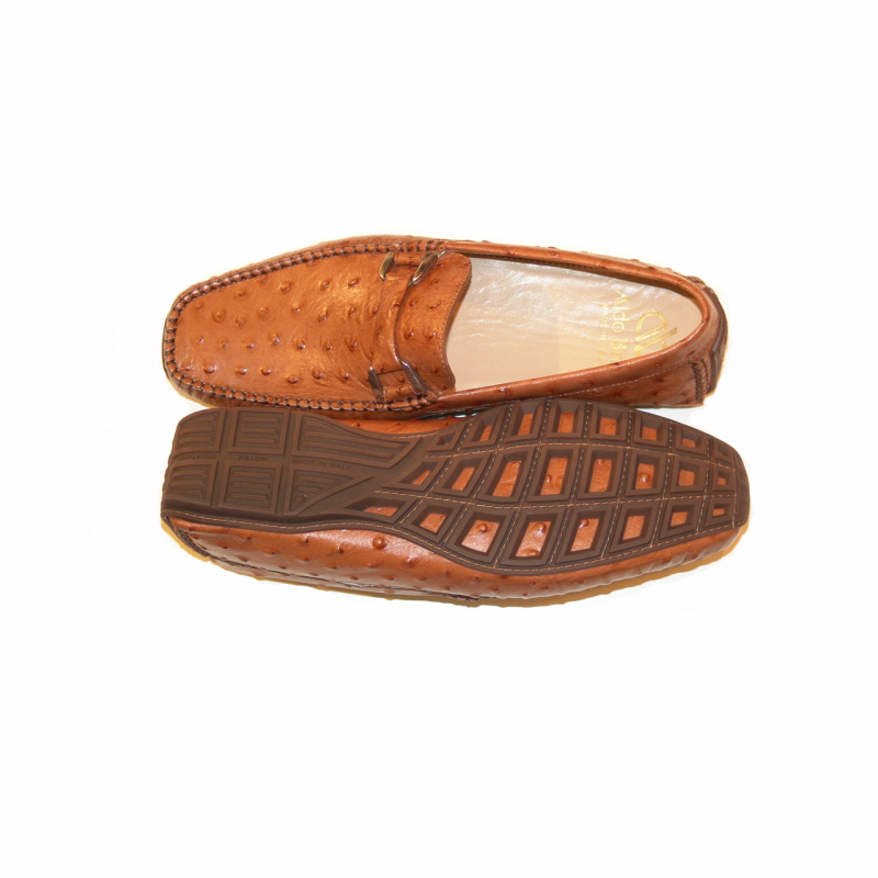 Aldo Brue Andrea printed leather Ostrich/ Brown