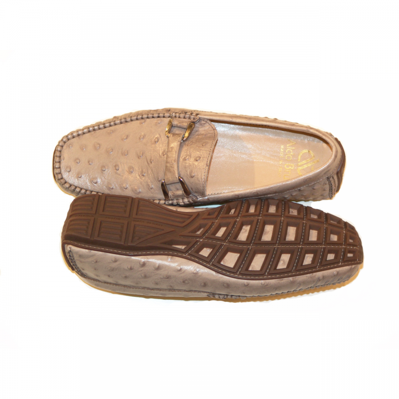 Aldo Brue Andrea printed leather Ostrich/ Taupe