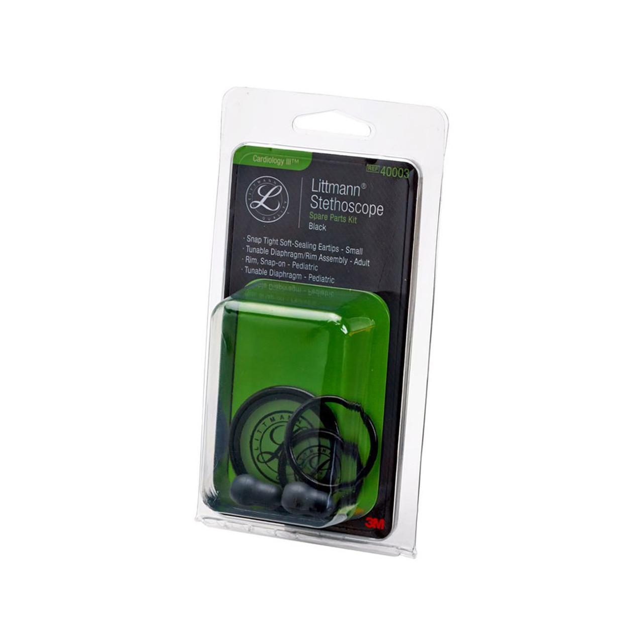 Littmann Stethoscope Spare Parts Kit, Cardiology III, Black, 40003
