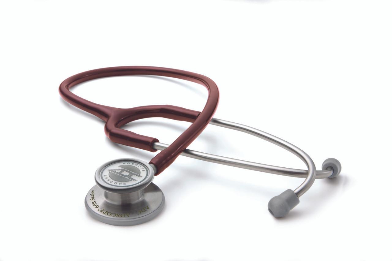 ADC Adscope 608 Convertible Clinician Stethoscope, Burgundy, 608BD