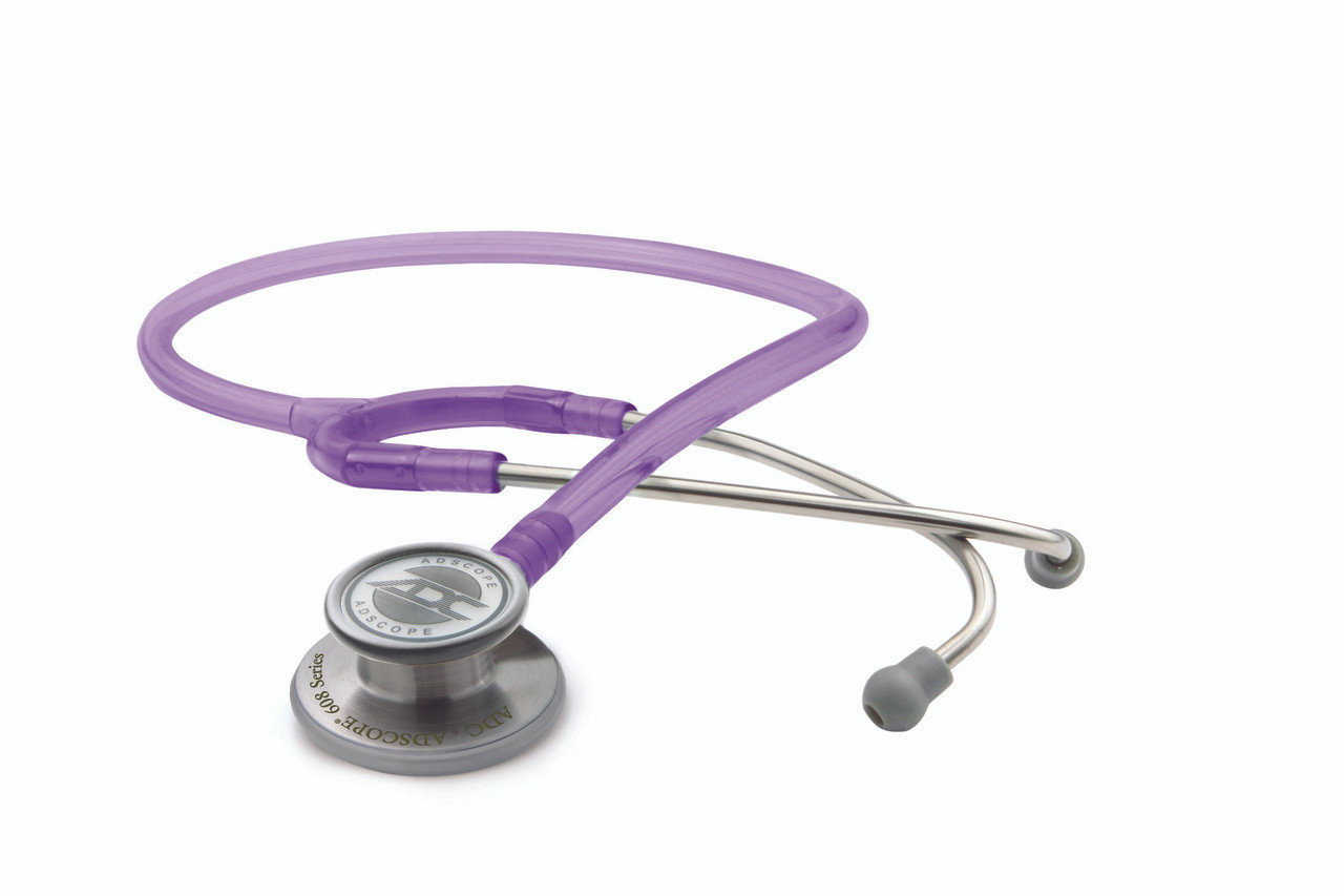 ADC Adscope 608 Convertible Clinician Stethoscope, Frosted Purple, 608FV