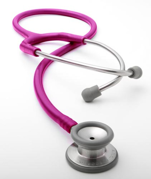 ADC 604 Stainless Pediatric Stethoscope, Metallic Raspberry, 604MRS