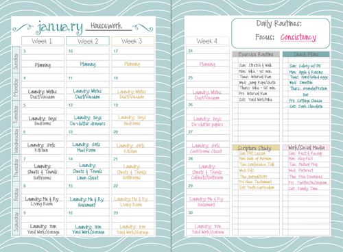 pdf planners and agendas