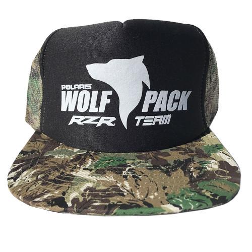 UTV Wolfpack Camo Hat Black with White Logo Snapback