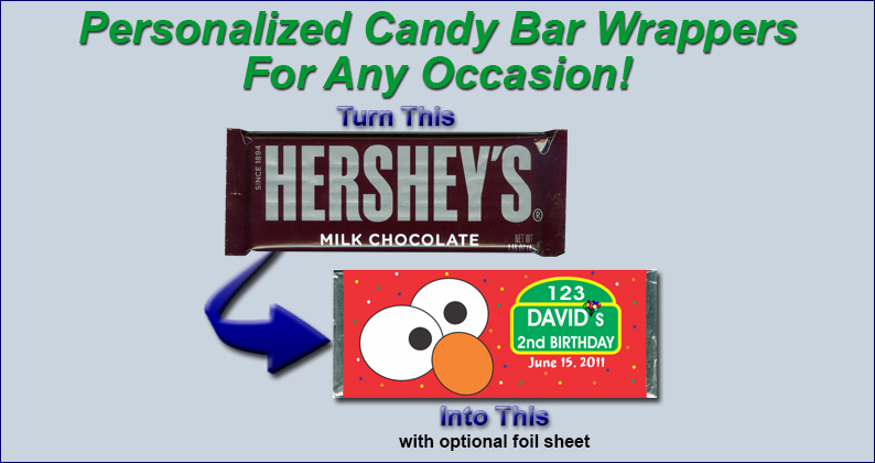 Candy Bar Wrappers - turn this into this