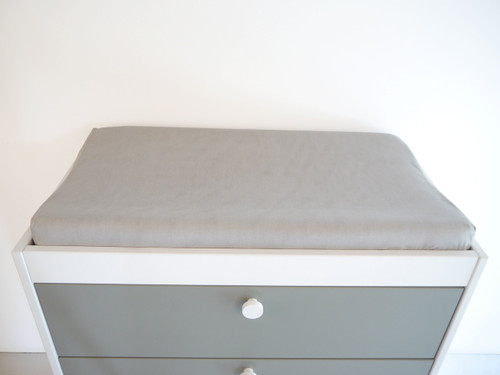 Organic Changing Pad Cover - Grey