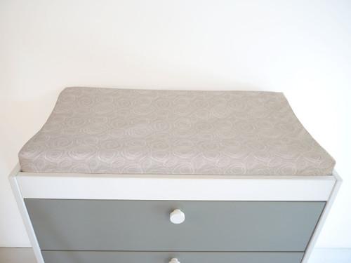 Spun Organic Changing Pad Cover - Grey