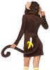 Ladies Cozy Monkey Costume (Back)