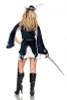 All for One Ladies Musketeer Costume Back View