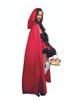Ladies Little Red Riding Hood Costume Side View with Hooded Cape