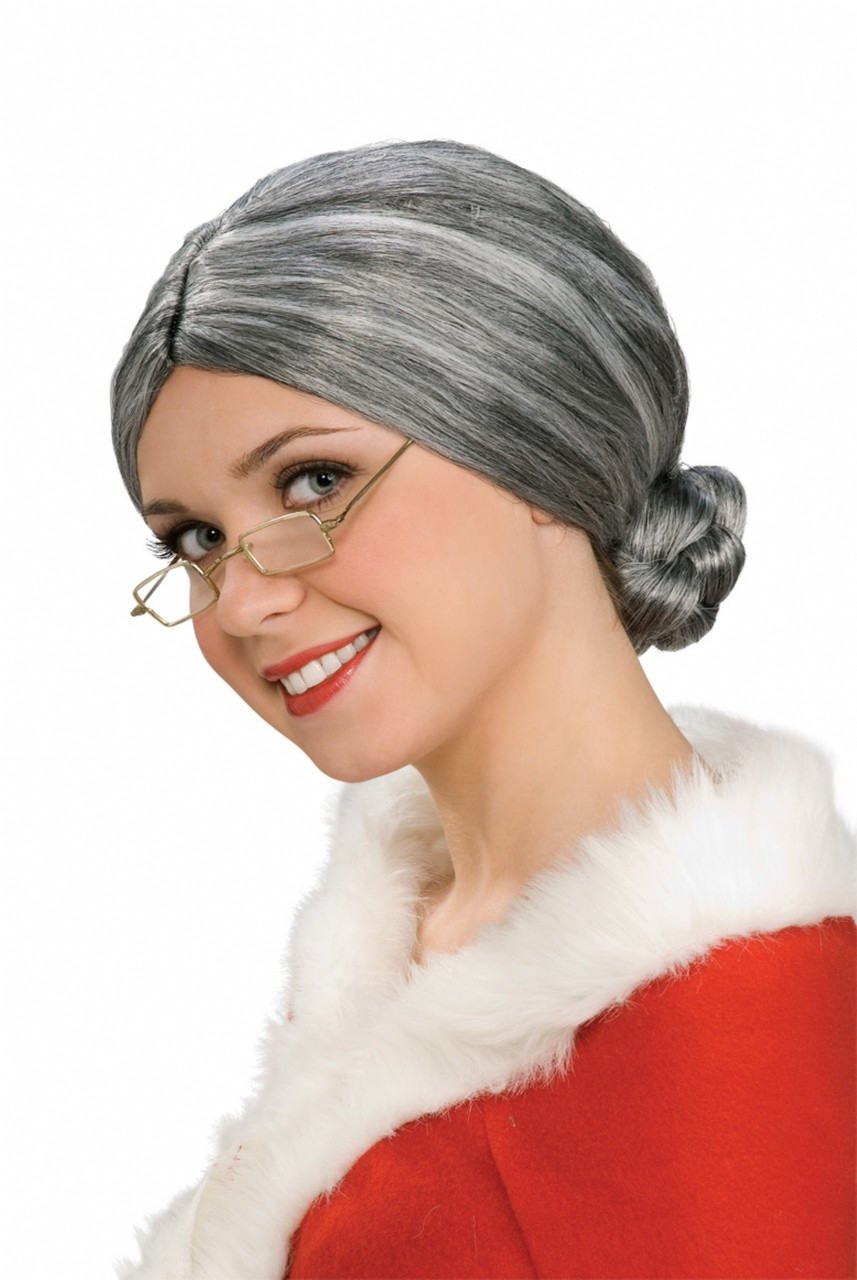 how to make mrs claus wig