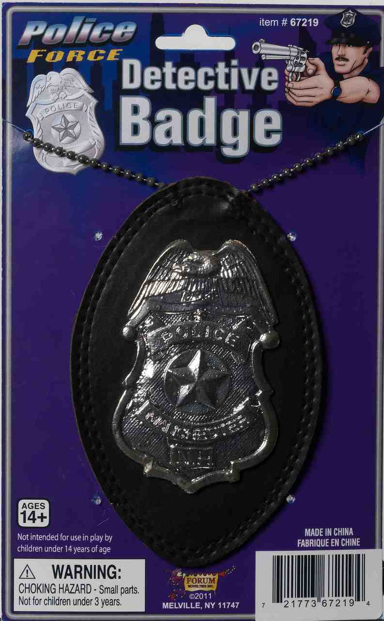 Undercover Detective Badge on a Chain - The Costume Shoppe  Undercover Dete...