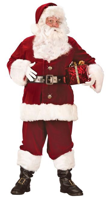 X-Large Super Deluxe Crimson Velvet Santa Suit Costume