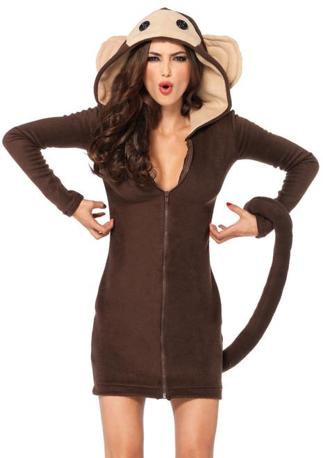 Ladies Cozy Monkey Costume