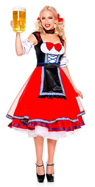 Ladies Long Beer Girl Oktoberfest Costume