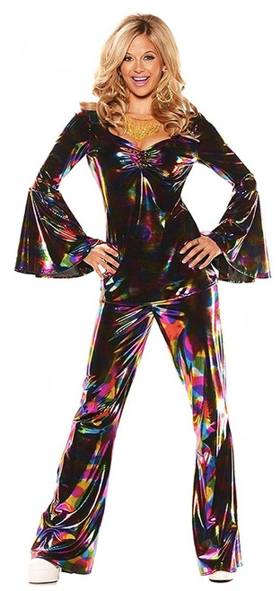 Disco Diva Rainbow Metallic Costume